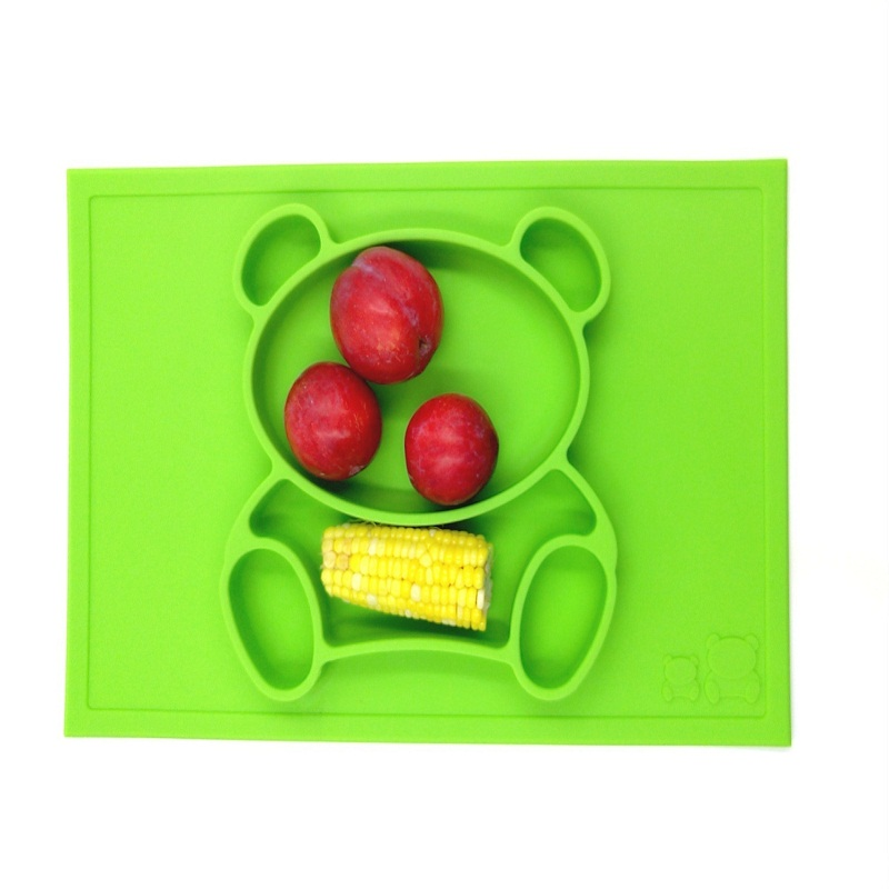 Baby Placemat Plate / Tray Suge mønstre Silikon Placemats for barn - Baby mating - Bilde 3