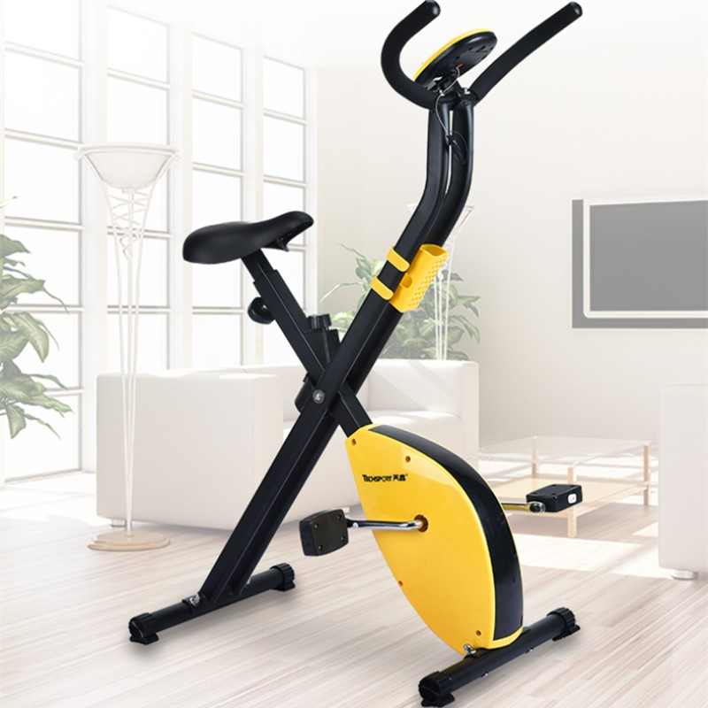 Mini indoor bicycle, silense pedalbicycle with electronic display, foldable spining, lightweight fitness bicycle to lose weight