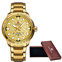 New NAVIFORCE Luxury Brand Watches Men Sport Full Steel Quartz Watch Man 3ATM Waterproof Clock Men