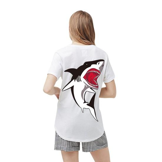 """""""Hot Shark"""" Shark Top / T-Shirt for Girls 4"""