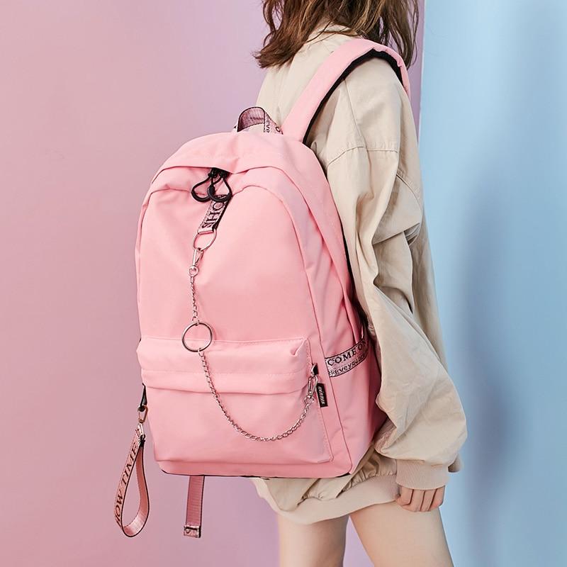 1a4924756684 Fashion Waterproof Fabric Women Backpack Lovers Travel Knapsack Korean  Personality Design College Girls Bookbags Bagpack