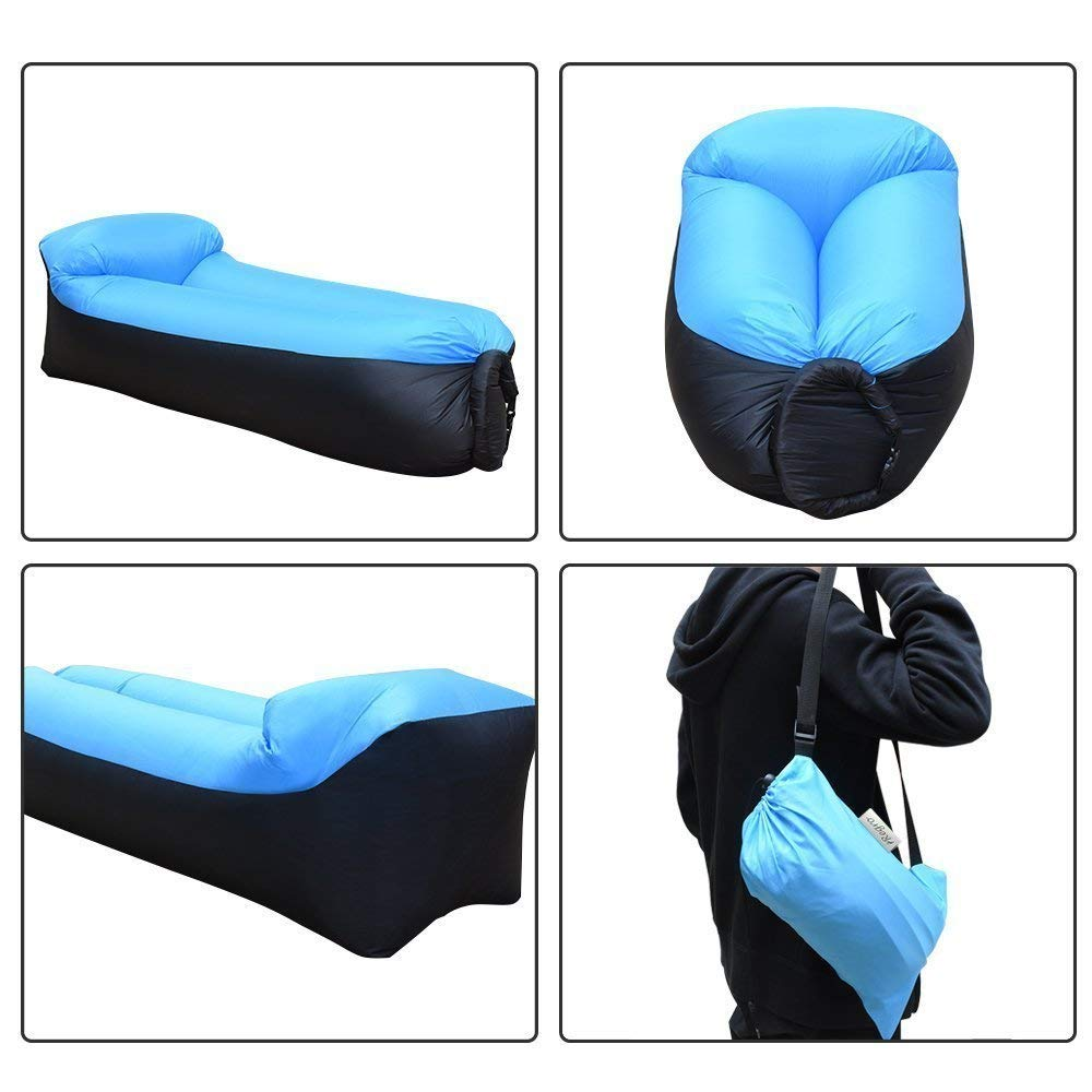 Image 5 - camping sleeping bag Waterproof Inflatable bag lazy sofa camping Sleeping bags air bed Adult Beach Lounge Chair Fast Folding-in Sleeping Bags from Sports & Entertainment