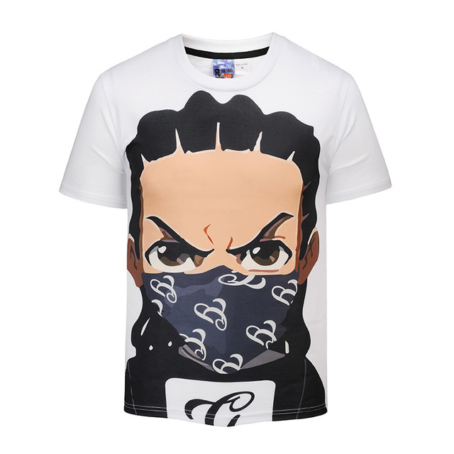 Us 12 75 Waidx Anime The Boondocks Riley Gun T Shirt Men Nebula Top 3d Print T Shirts Thermal Transfer Suit Homme Drop Shipping In T Shirts From