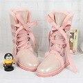 UVWP Moda de Alta Calidad de piel de Oveja Genuina de Cuero Botas de Nieve Botas Impermeables botas de Lana Caliente de Las Mujeres Botas de Invierno de la Piel Natural