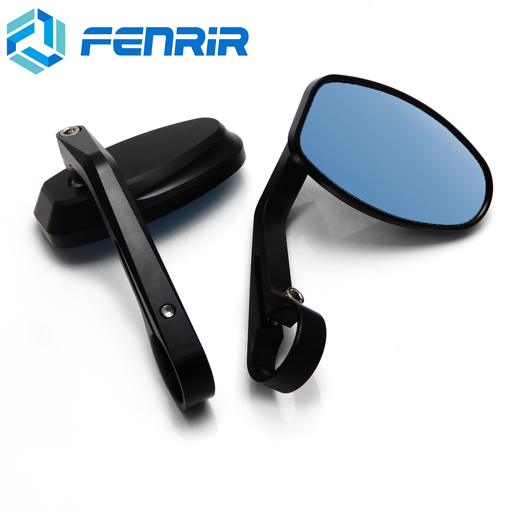 FENRIR CNC ATV Scooter motorcycle Bar End mirror Rear View for Honda suzuki Kawasaki piaggio vespa