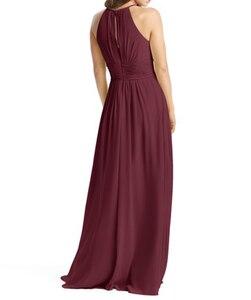 Image 5 - Burgundy Bridesmaid Dresses Long  Chiffon Dress for Wedding Party 2020 Robe Demoiselle Dhonneur Wedding Guest Dress