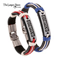 Fashion woven real leather bracelet unisex bracelet strap couple red blue explosion models true lovers romantic beautiful love
