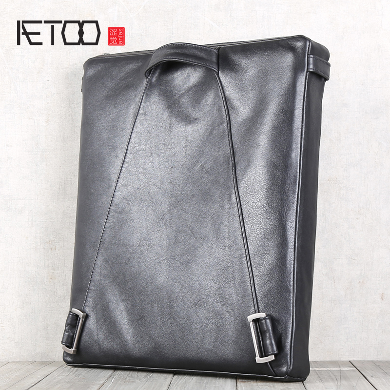 AETOO Head cowhide shoulders packets shoulder crossbody bag leather bags casual backpack men s and women
