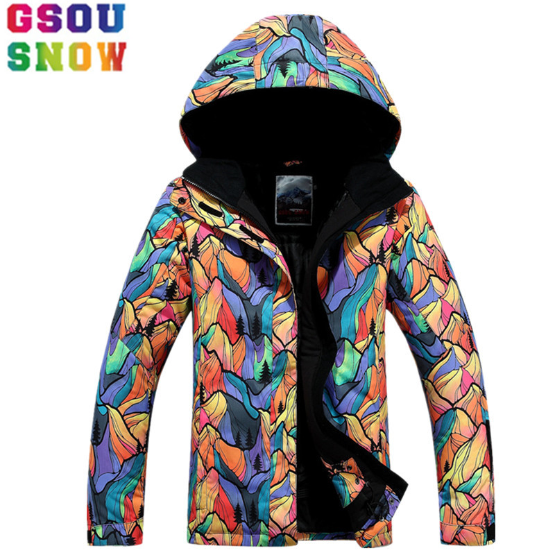 GSOU SNOW Brand Ski Jacket Women Waterproof Snowboard Jacket Winter Outdoor Skiing Snowboarding Snow Clothes Cheap Sports Suit gsou snow ski jacket pants women ski suit waterproof snowboard jacket pants snowboard sets high quality skiing snowboarding suit