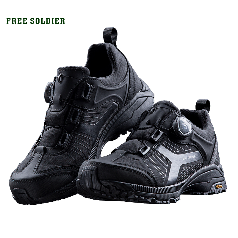 FREE SOLDIER outdoor Low Army Fan Tactical Boots Male Outdoor Non slip Waterproof Breathable Mountain Hiking