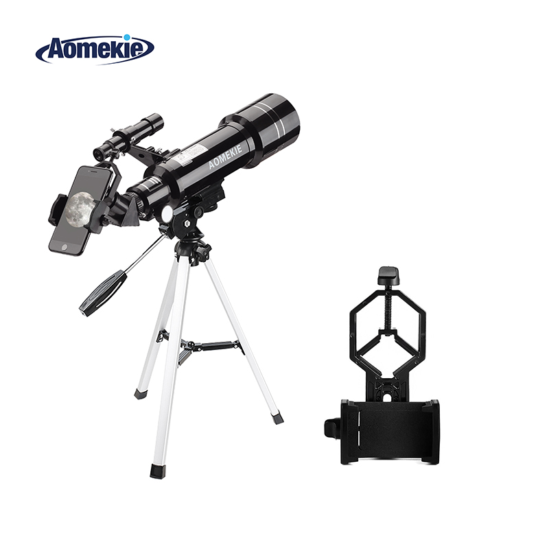 AOMEKIE F40070M Astronomique Télescope Lune Observation Des Oiseaux HD Télescope avec Trépied Compact et Support de Téléphone Cadeau pour Enfants Débutant