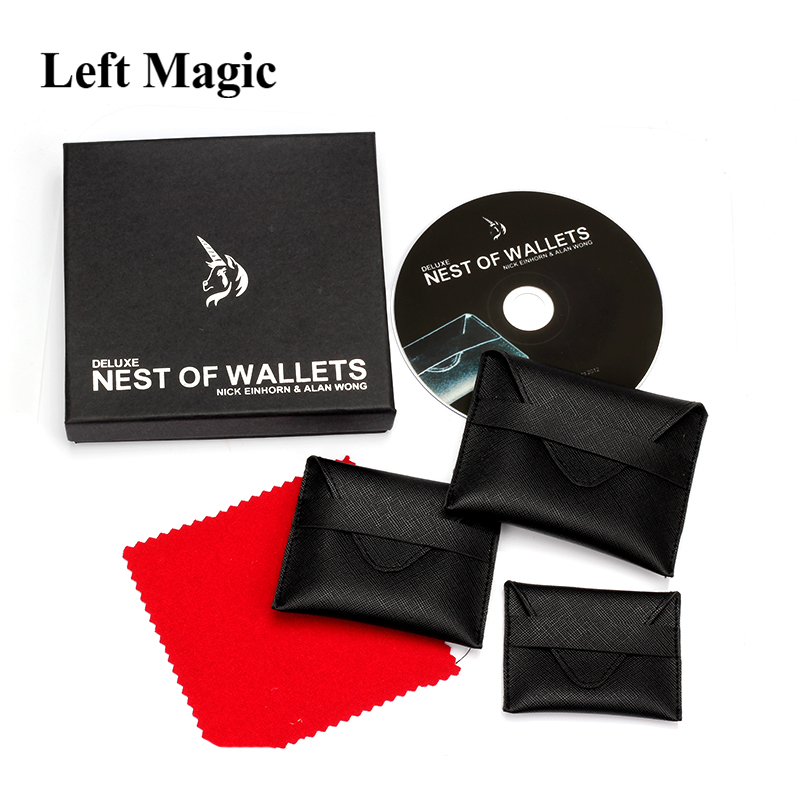 Deluxe Nest Of Wallets(DVD+ Gimmick) - Magic Trick Close Up Magic Street Illusions Stage Magic Props Mentalism AccessoriesDeluxe Nest Of Wallets(DVD+ Gimmick) - Magic Trick Close Up Magic Street Illusions Stage Magic Props Mentalism Accessories
