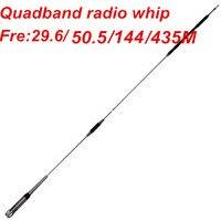 OSHINVOY Quad band mobile radio antenna 29.6/50.5/144/435MHz hf vhf uhf whip antenna vehicle radio quadband car radio antenna