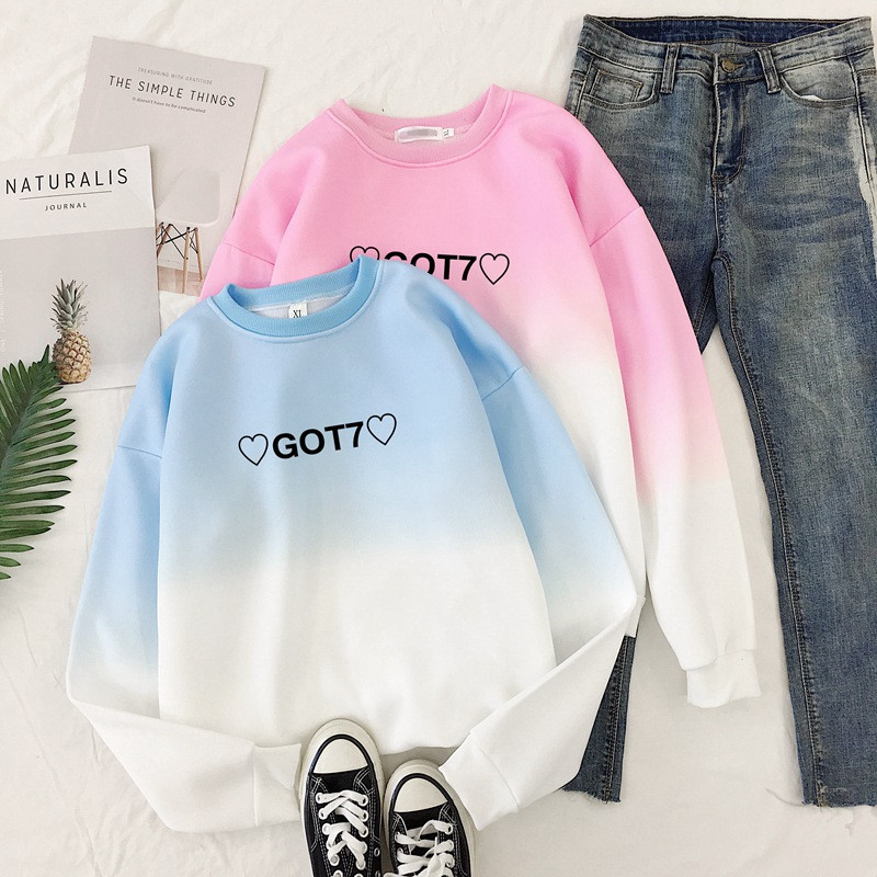 WXCTEAM Kpop GOT7 Splicing Sweatshirt Fly Concert Jackson Unisex Hoodie Mark Sweatershirt