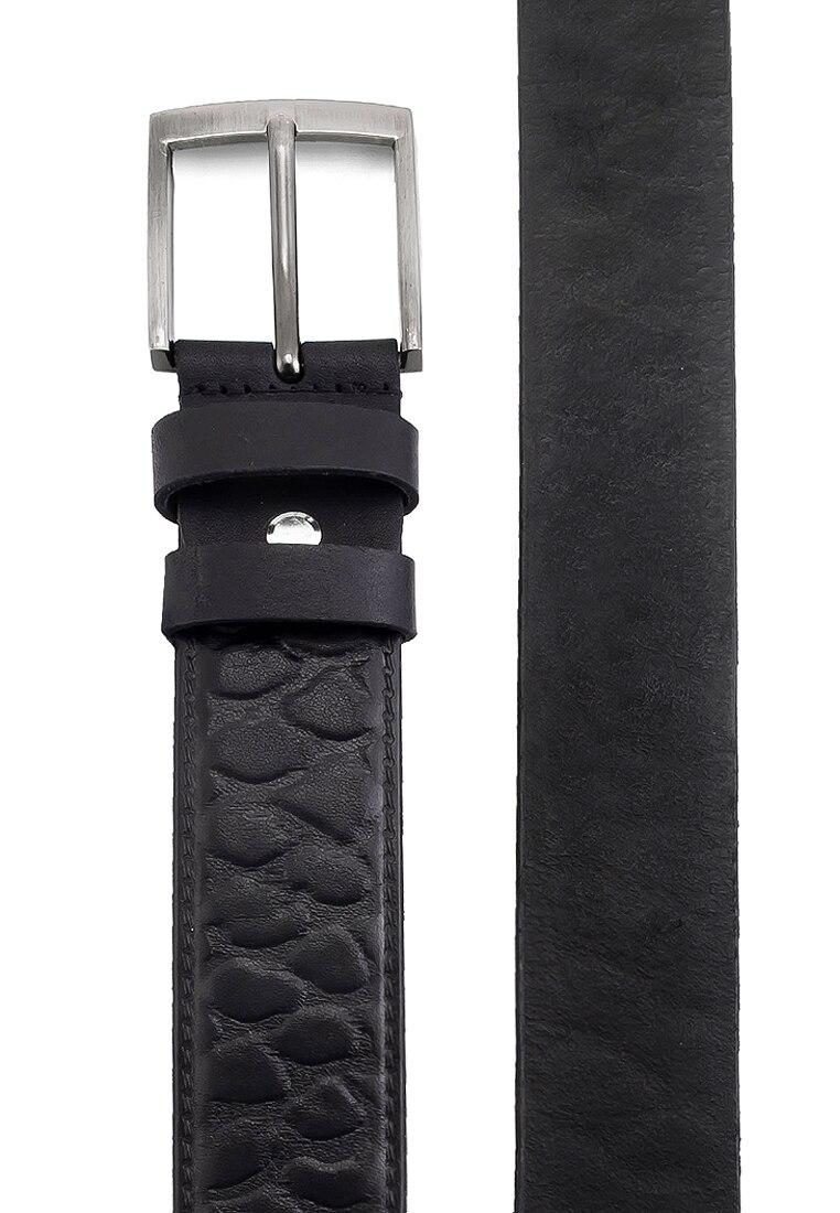 Belt leather men's GREG G27 stone black Black