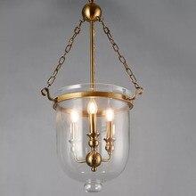 Classical Loft LED Pendant Lights Iron Chain Gold Lamp Body Bed Light 3 Bulb Restaurant Parlor Bedroom Pendant Lamp Fixtures стоимость