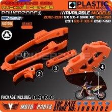 Оранжевый маятник цепь крепежная планка+ CNC цепи гвардии руководство+ тормозной шланг зажим для KTM SX F SMR XC XCF 125 150 200 250 350 450 525