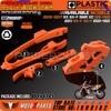 Orange Swingarm Chain Slider Kit CNC Chain Guard Guide Brake Hose Clamp For KTM SX F
