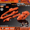 Orange Swingarm Chain Slider Kit CNC Chain Guard Guide Brake Hose Clamp For KTM SX F