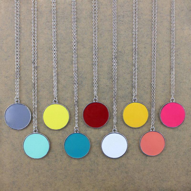 enamel monogram necklace