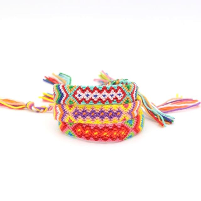 69bf80496463 € 1.22 18% de DESCUENTO Boho étnica Nepal pulsera hecha a mano cadena  Popular abrigo de algodón cuerda tejida amistad pulseras para mujeres ...