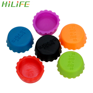 HILIFE 6Pcs/Set Vinegar Soy Corktail Lid Silicone Beer Bottle Cap 3cm Bottle Cover Wine Stopper Creative Preservative Cover