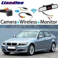 Liandlee For BMW 3 Series E46 E90 E91 E92 E93 Special Rear View Reversing Camera + Wireless Receiver + Mirror Monitor Easy DIY