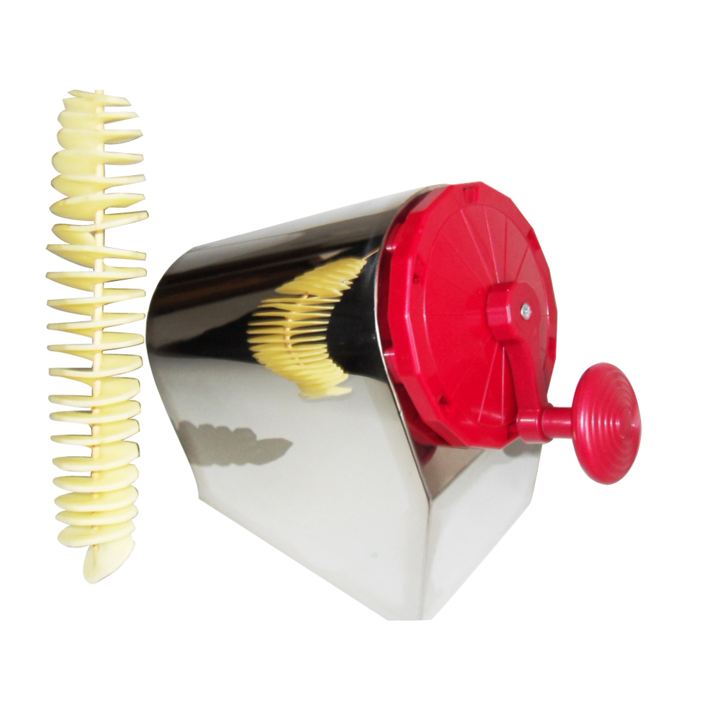 GZZT Elektro Tornado Kartoffel Spiral Cutter Edelstahl Spirale Kartoffel Slicer Kartoffel Turm, Der Twist Schredder - 3