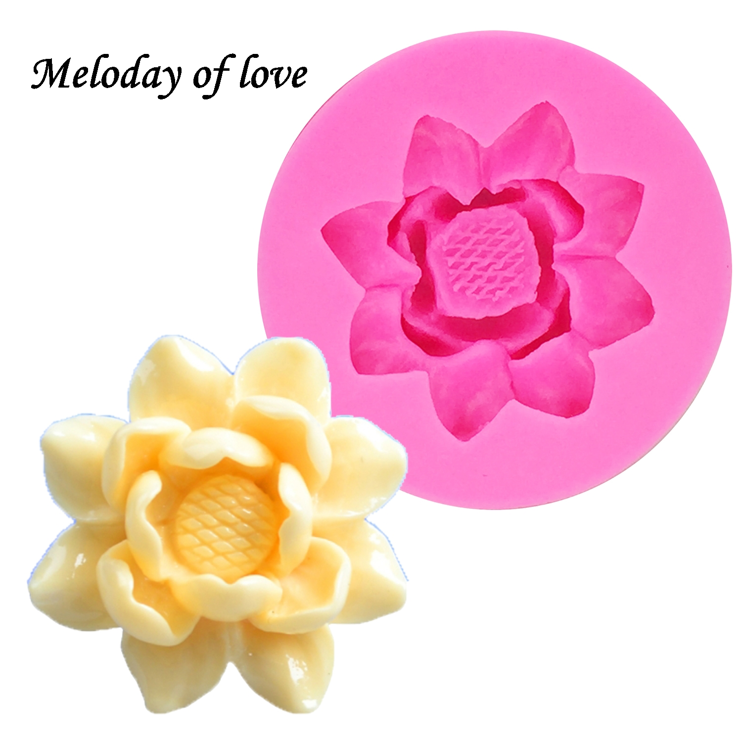 3D Flowers Chocolate Wedding Cake Decorating Tools DIY Fondant Silicone Mold Resin Clay Soap Mold Wholesale T0175