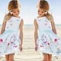 Горячие девушки платье детская одежда белый ремешок платье Студенты носите мода плиссированные платье шелковое платье Отдыха