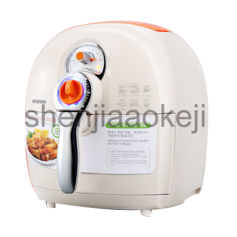 Oil-free air fryer household electric fryer large-capacity fries machine fried chicken authentic 220v 1400w 1pc home healthy non stick electric deep fryer smokeless electric air fryer french fries machine for home using af 100 1pc