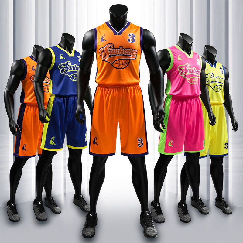Men Basketball Jersey Shorts Mens Competition Uniforms Suits Quick-Dry Custom Basketball Jerseys S116171-1