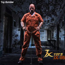 HOT Figure TOYS JXtoys 1/6 Scale Male Jason Statham Dwayne Johnson Prison Uniform Suit The Fate of the Furious Fit 12 Inch(China)