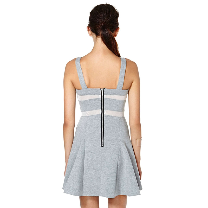 HDY Women's Dress Spaghetti Strap Summer Dress A-line Women Dress Elegant 2018 Ladies Summer Dresses Casual Patchwork 8
