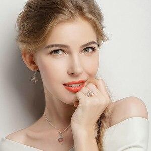 Image 3 - BAMOER Hot Sale Genuine 925 Sterling Silver Lovely Orange Bee Animal Drop Earrings for Women Fine Jewelry Gift Bijoux SCE149