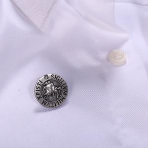 Image 3 - Knights Templar Seal Crusaders Solomons Temple Lapel Pin
