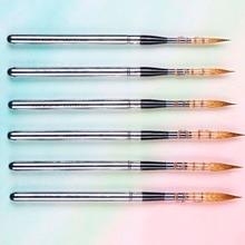 881 высокое качество Соболь волос нержавеющая крышка деревянная ручка художественная краска кисти художественные для рисования акварелью кисти