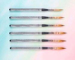 881 высокое качество Соболь волос нержавеющая крышка деревянная ручка художественная краска кисти художественные для рисования акварелью к...