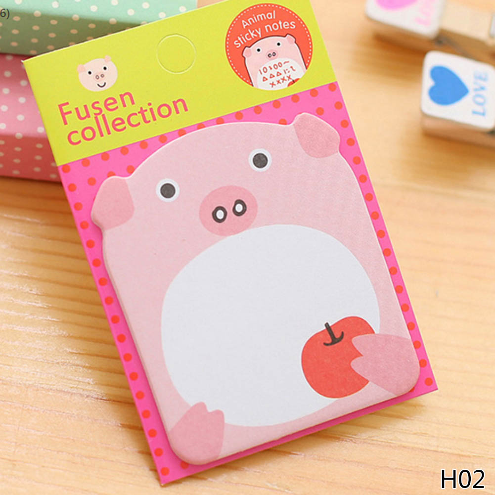 1Pcs Animale de desene animate Memo Pad Paper Sticky Notes Post - Blocnotesuri și registre - Fotografie 3