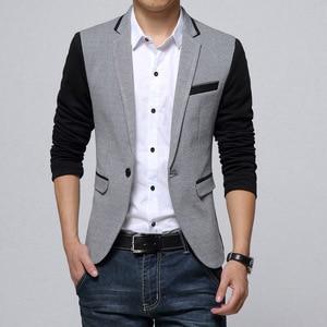 Image 3 - Брендовая одежда Liseaven, блейзер, мужское модное пальто, тонкая мужская одежда, повседневные однотонные мужские блейзеры