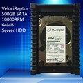 VelociRaptor 500 GB de 3.5 pulgadas SATA 64 M 10000RMP 64 M Servidor HDD Garantía de 1 yera