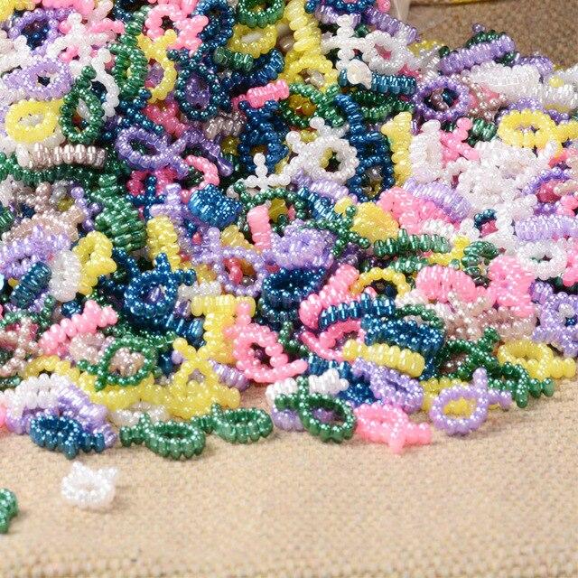 100 шт разноцветные бабочки в форме узла скрапбук имитация жемчуга
