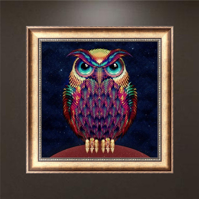 3D Diy FULL diamond painting cross embroidery kit diamond embroidery crafts owl cat picture home decoration Mosaic design gift.