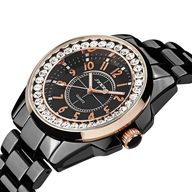 Ladies Gold Diamond female Watch 1