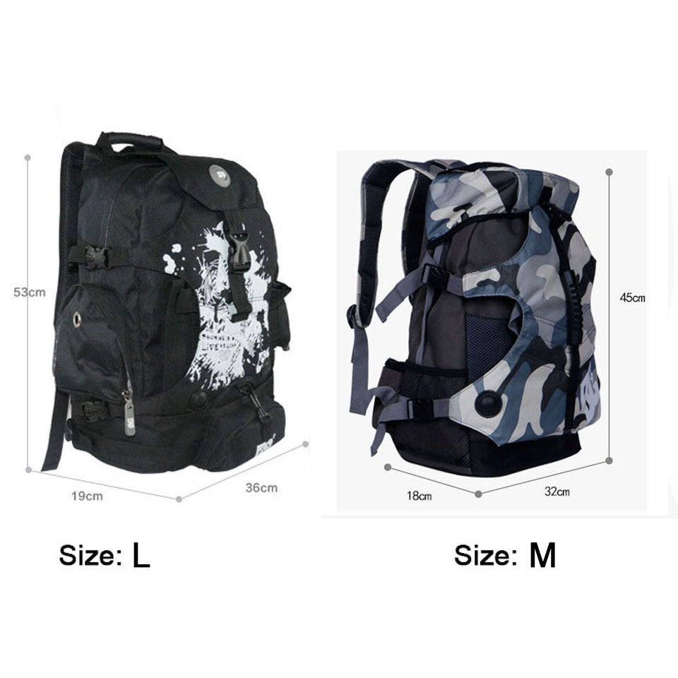 Image 2 - DC 810D Polyester Fabric Inline Speed / Slalom Roller Skates Backpack Travel Camping Camouflage Multi function Skating Bags BB2-in Scooter Parts & Accessories from Sports & Entertainment