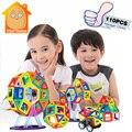 Minitudou Магнитный Конструктор Строительство 88 ~ 110 ШТ. Кирпичи DIY детские Образовательные Игрушки Масштабные Модели Магнитного Imaginext