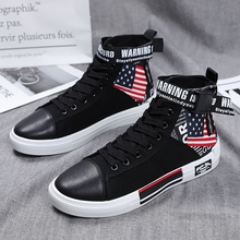 Spring Autumn/ Men Casual Shoes High Top Canvas For Black White Fashion Brand Youth Sneakers