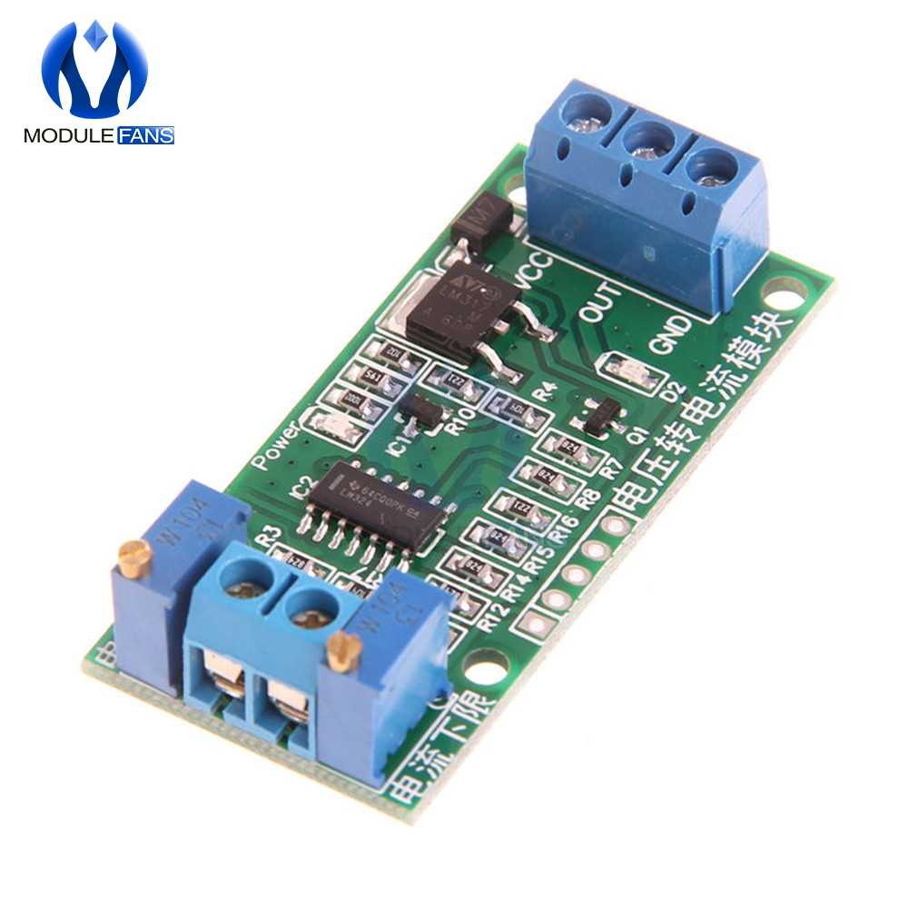 Linear Conversion Voltage to Current Transmitter Signal Module 0-5V to 4-20mA DC 12V-24V Potentiometer Adjustable isolated