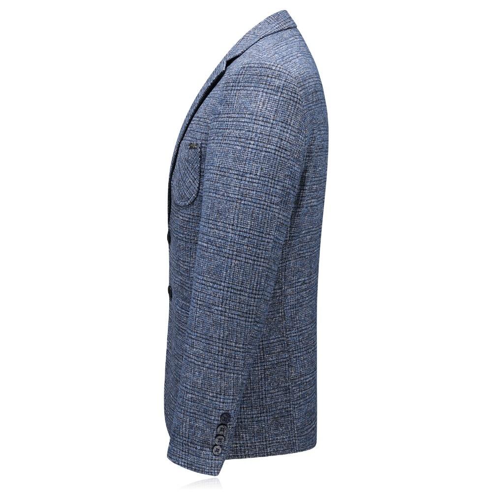 JZ CHIEF Custom Jacket Men Blazer Korean Spring Autumn Casual Regular Fit Blazer Coat Plaid Striped Printing Jacket Coat Outwear