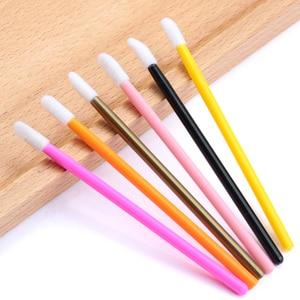 Image 5 - 50pcs Disposable Eyelashes brush Individual Lash Removing Cleaning  Mascara Applicator Makeup Brushes For Eyelash Extension Tool